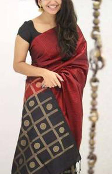 Fabulous Maroon Color Soft Silk Designer Saree FN1084