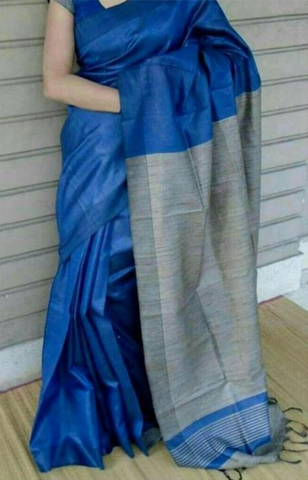 Innovative Blue Color Soft Silk Designer Saree FN224