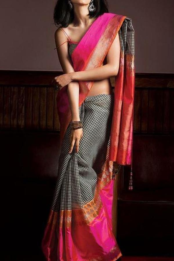 Charming Multi Color Soft Silk Designer Saree FN06