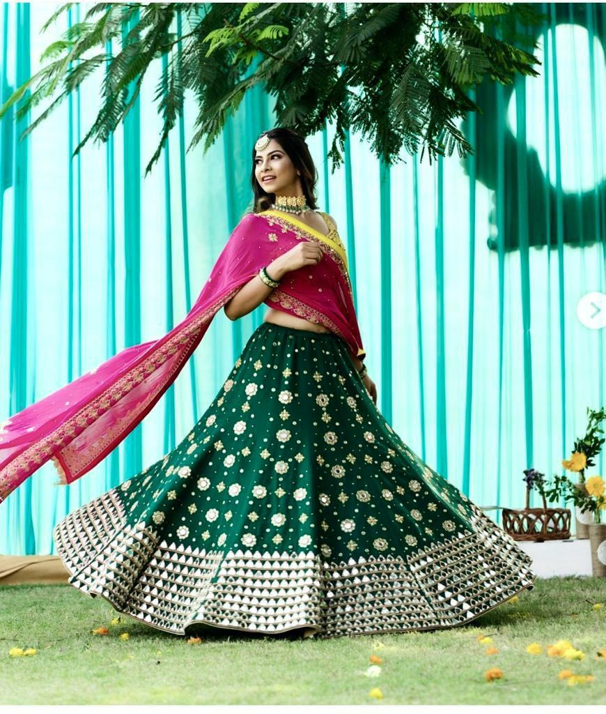 Scrumptious Green Color New Designer Lehenaga Choli