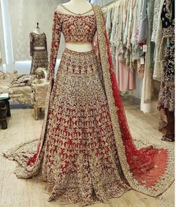Prototype Red Color New Designer Bridal Lehenga Choli