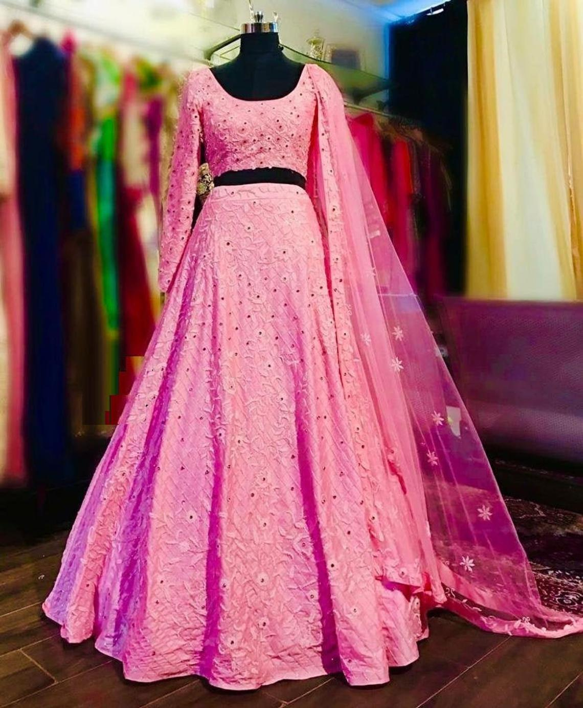 Prototype Pink Color New Designer Party Wear Lehenga Choli