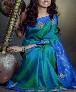 Staring Blue Color Soft Silk Designer Saree FN102
