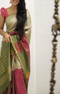 Peculiar Multi Color Soft Silk Saree FN1088