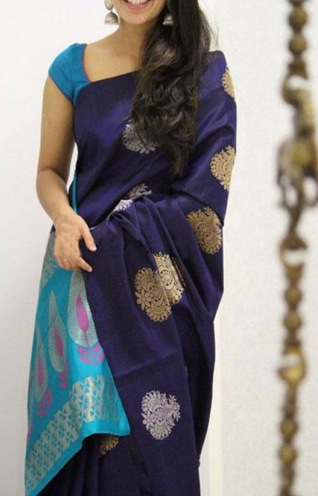 Charming Blue Color Soft Silk Saree FN1138