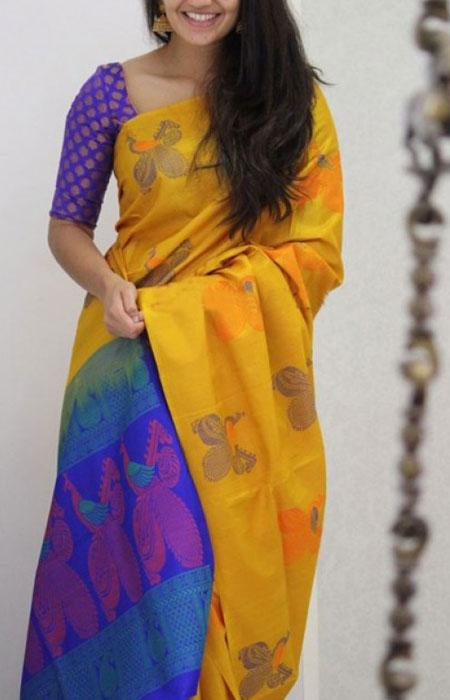 Classy Yellow Color Soft Silk Designer Sarees FN1153