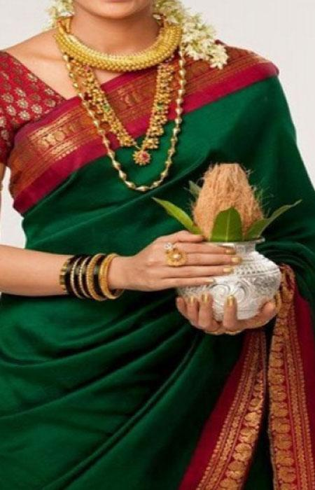 Delightful Green Color Soft Silk Designer Saree FN120