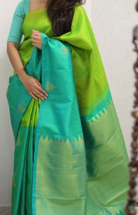 Charismatic Green Color Soft Silk Designer Sarees FN1286