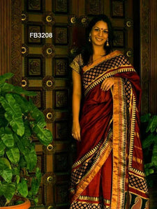 Lovely Brown Color Designer zarna silk saree FN2660