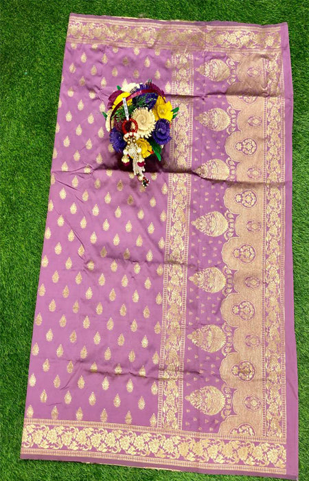 Jazzy Baby Pink Color Designer Cotton Silk with Jacquard Border saree