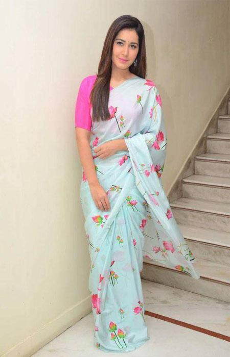 Estimable Blue and Pink Color Linen Designer Digital Print Saree LN8044