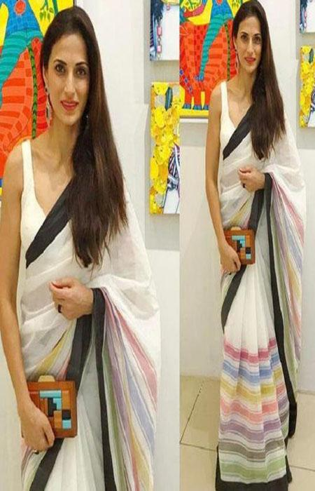 Unique Multi  Color Linen Designer Digital Print Saree LN8094