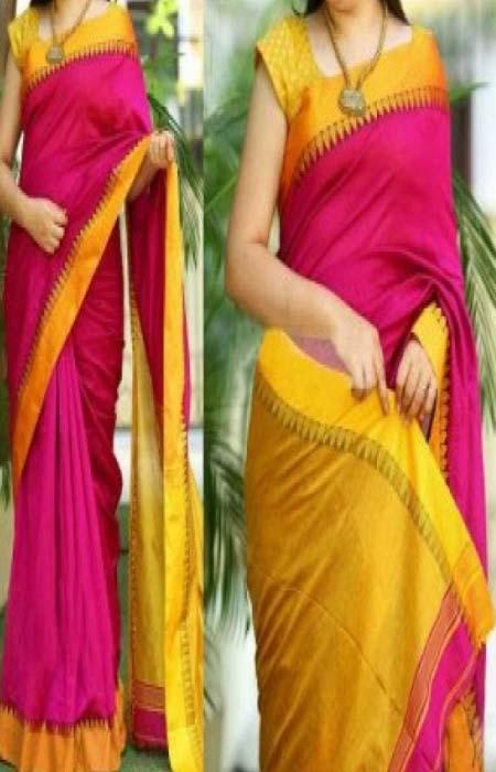 Admirable Pink And Green Color Designer Soft Silk Saree SC3100