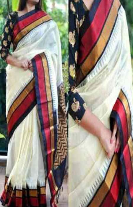 Beauteous Mluti Color Designer Soft Silk Saree SC3101
