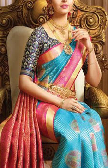 Radient Mluti Color Designer Soft Silk Saree SC3114