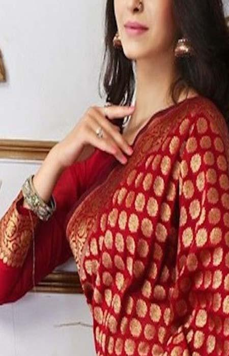 Perfect Red Color Designer Soft Silk Saree SC3145