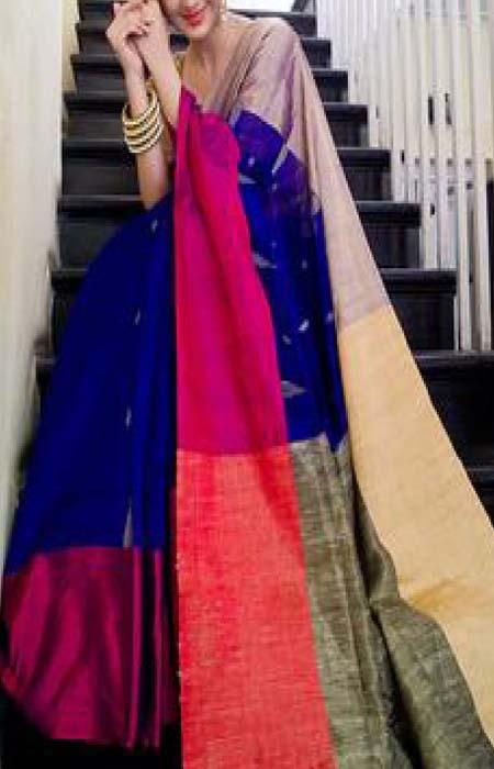 Fashionable Mluti Color Designer Soft Silk Saree SC3165