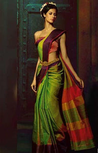 Extraordinary Green Color Designer Soft Silk Saree SC3295