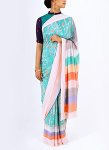 Amazing Blue Color Soft Silk Designer Sarees SC7063