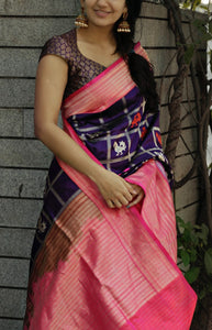 Jazzy Blue And Pink Color Designer soft Silk Saree SC-9130