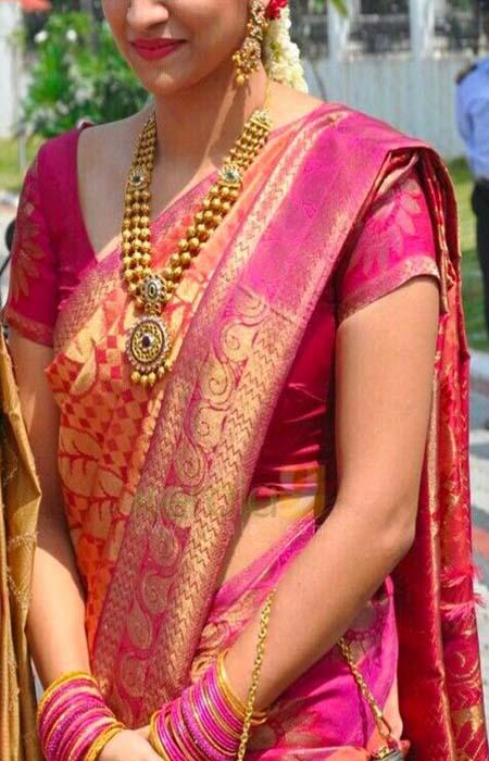 Captivating Pink Color Designer Soft Silk Saree SC3003