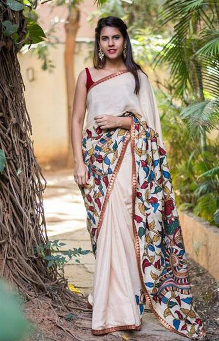 Captivating Pink Color Linen Designer Digital Print Saree LN8003