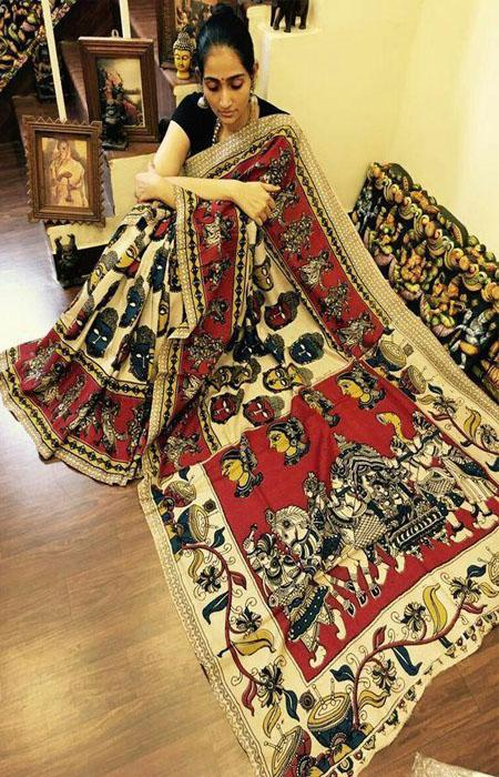 Attractive Multi Color Linen Designer Digital Print Saree LN8051