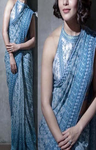 Vintage Blue Color Designer Soft Silk Saree SC3045
