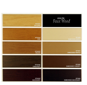 "Avalon Faux Wood - 2"" and 2 1/2"" PVC Foam Blinds"