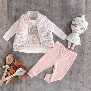 3 PC girls  baby kids  jogger jogging set