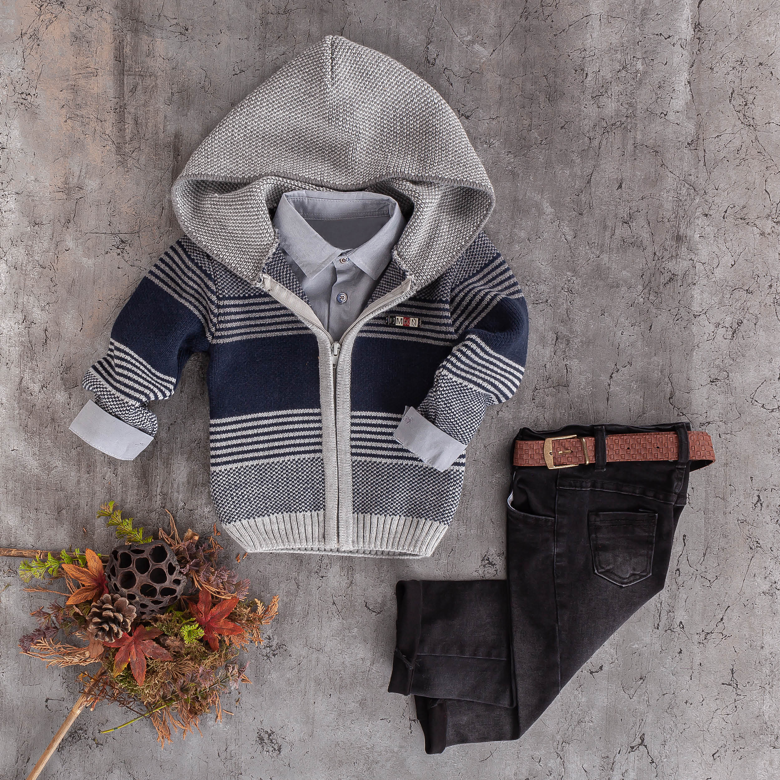 boys kids wool sweater knit jeans 3pc set