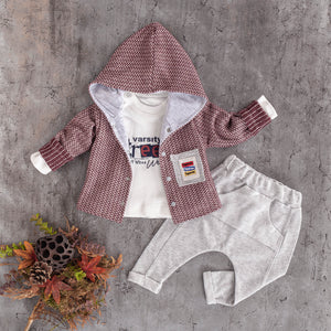 baby 3 PC hoodie cotton jogger set