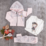girls kids lace jogger jogging set
