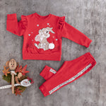 girls kids 2PC  cool cotton jogging jogger set