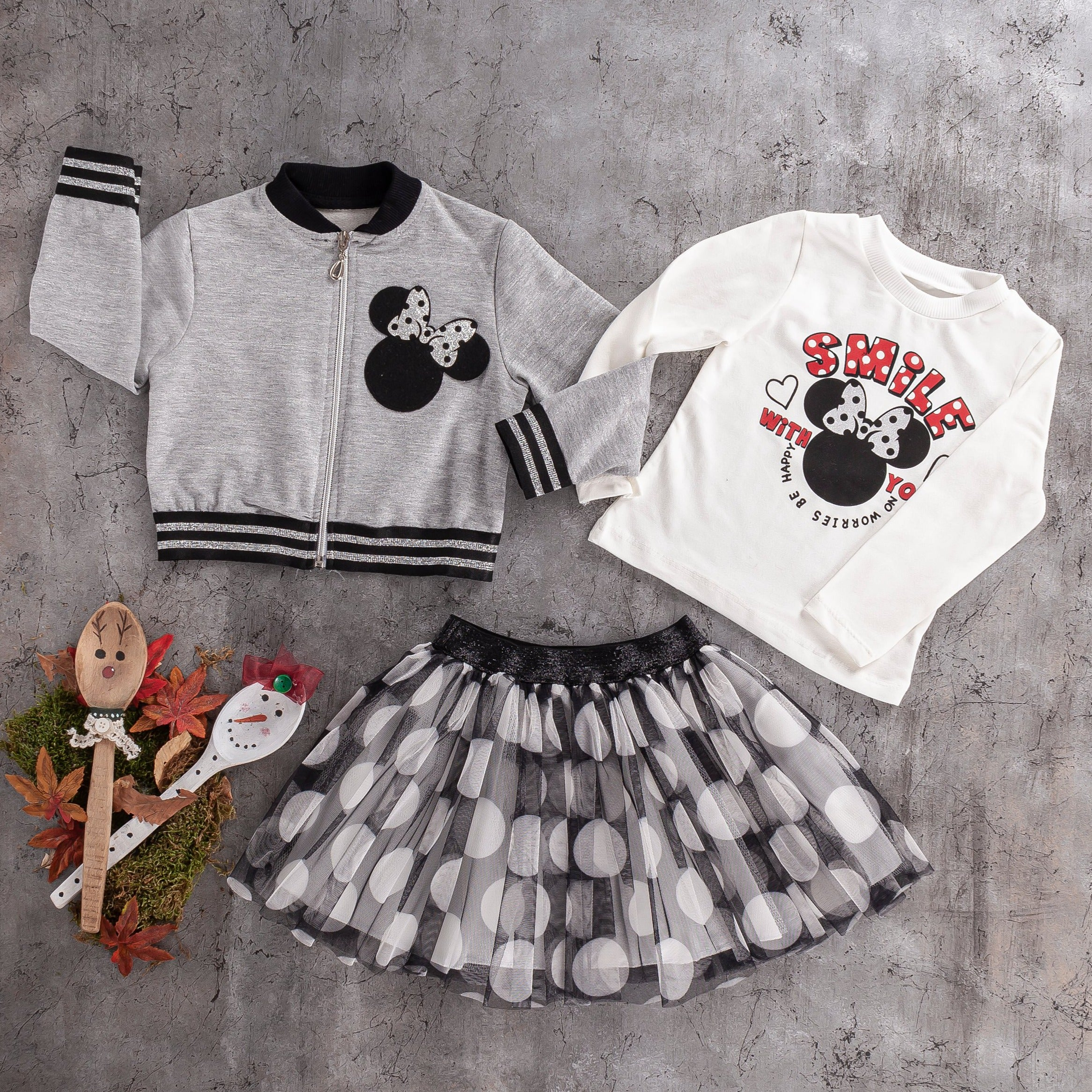 3 PC  girls tulle skirt and cotton jacket set
