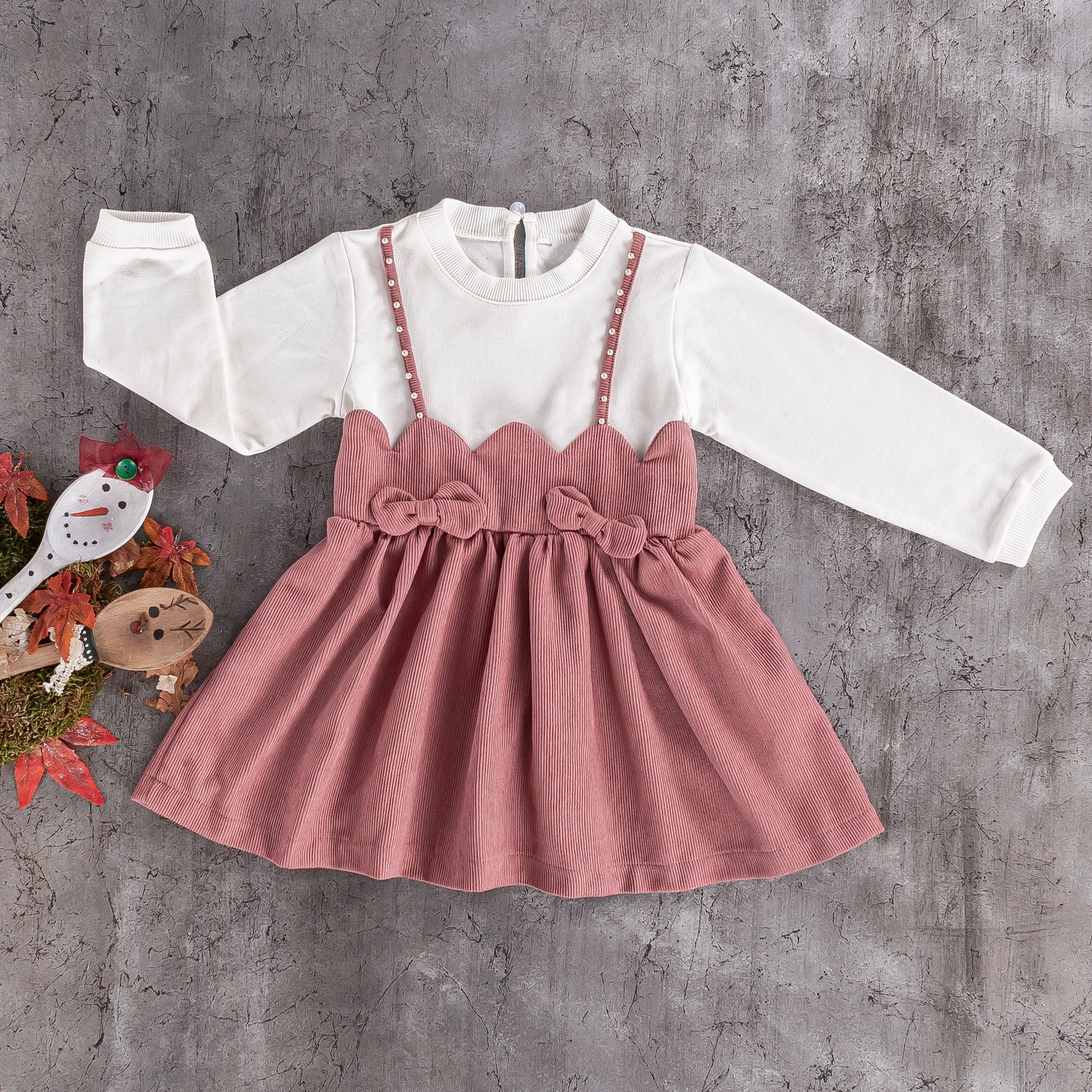 baby girls velour cotton casual dress