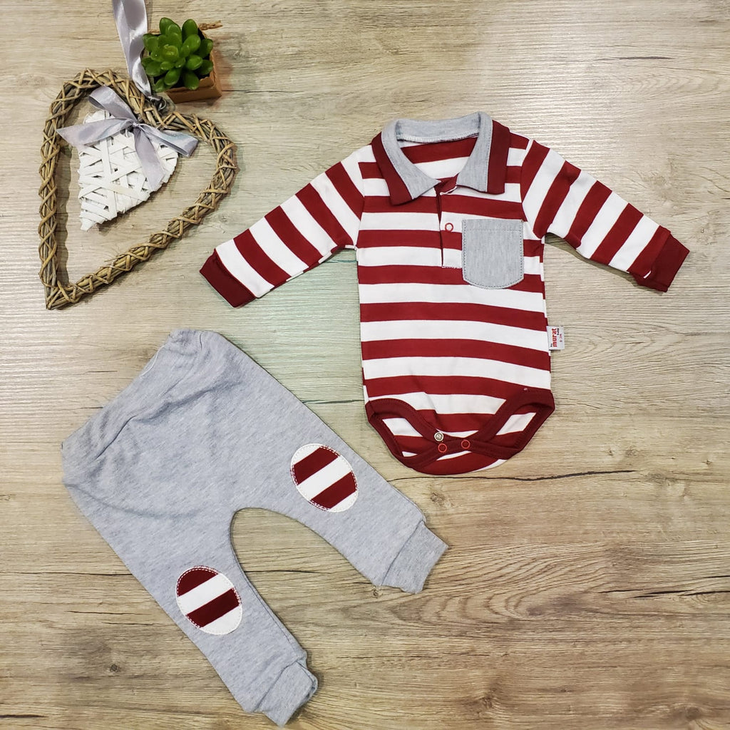Striped Polo Set