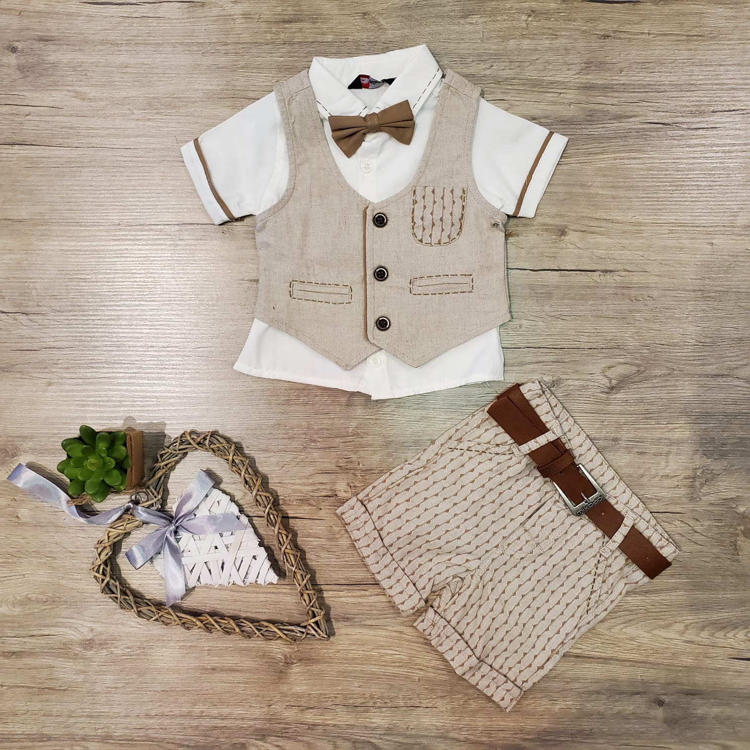 Baby Stripe Linen Set