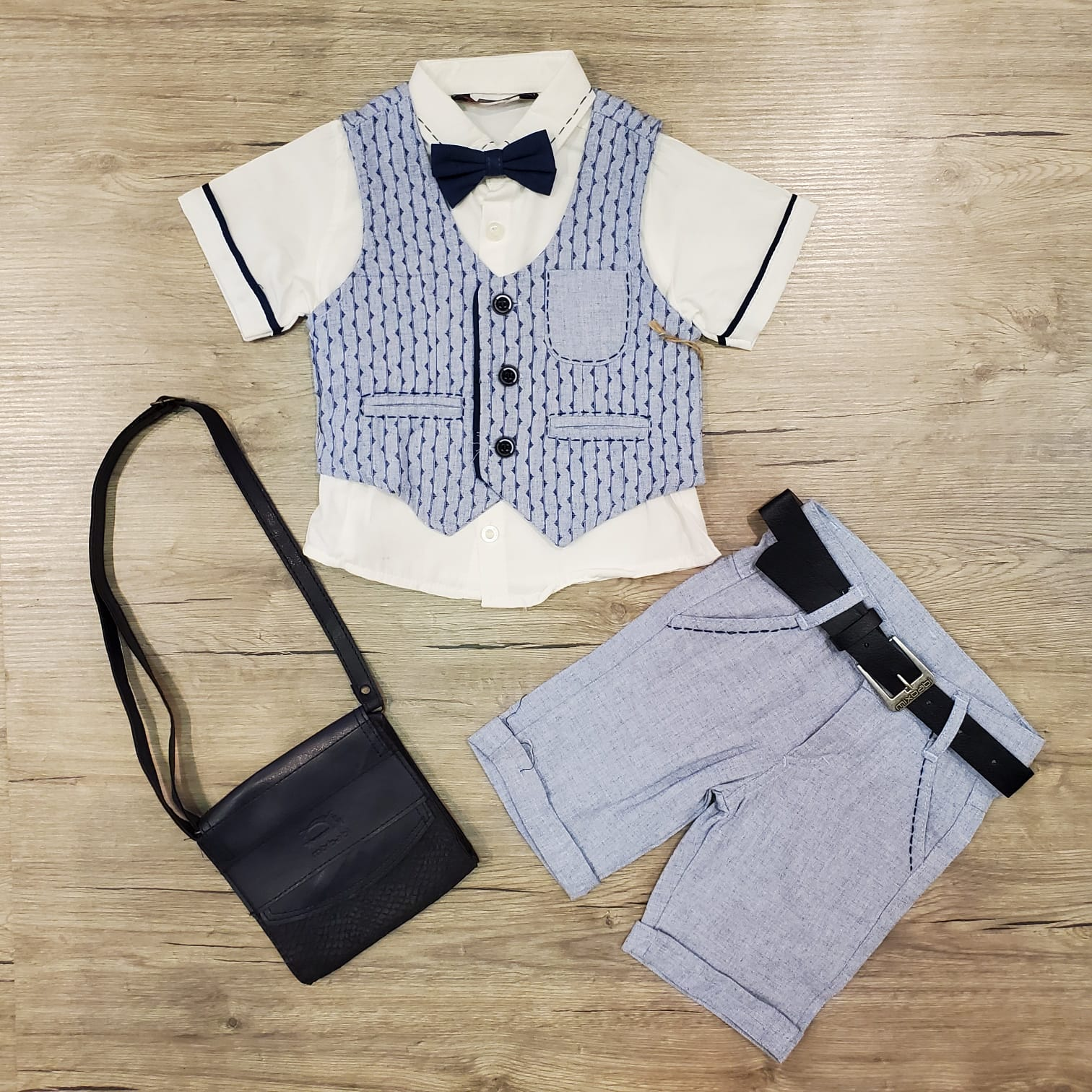 Mr. Stripe Linen Set
