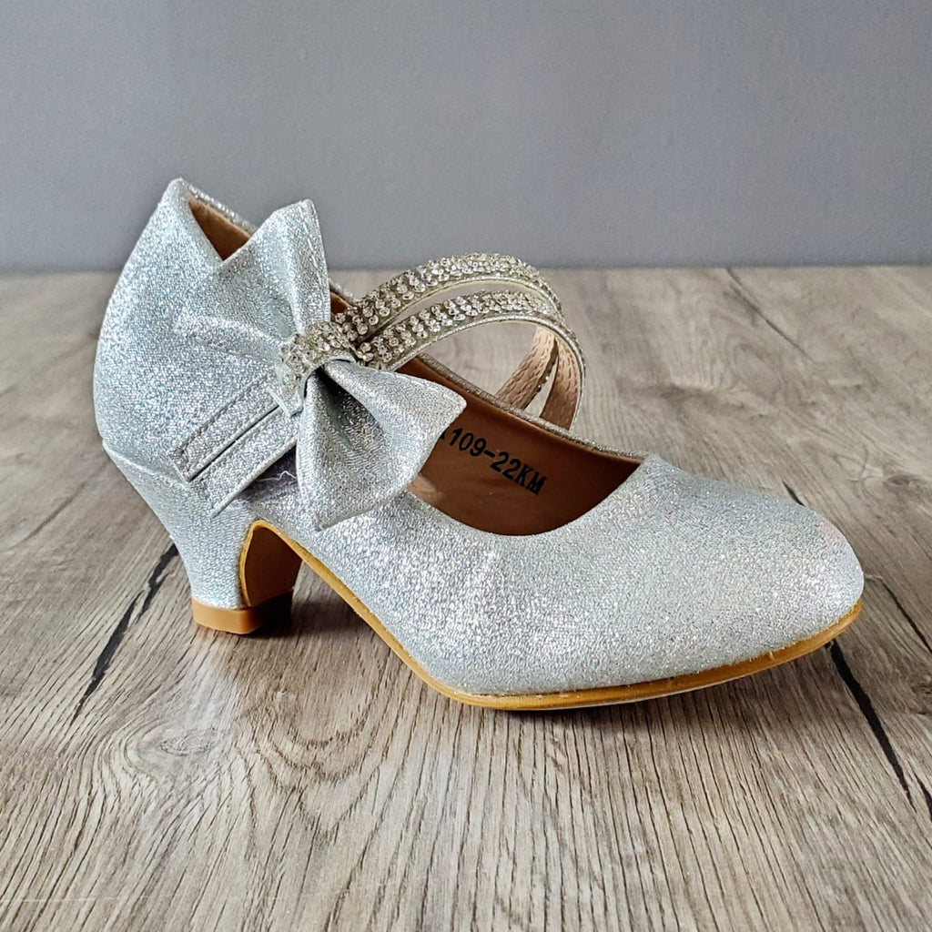 silver princess shoes