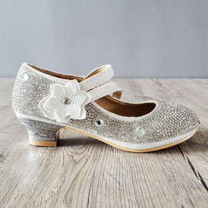 Flower Silver Shoes