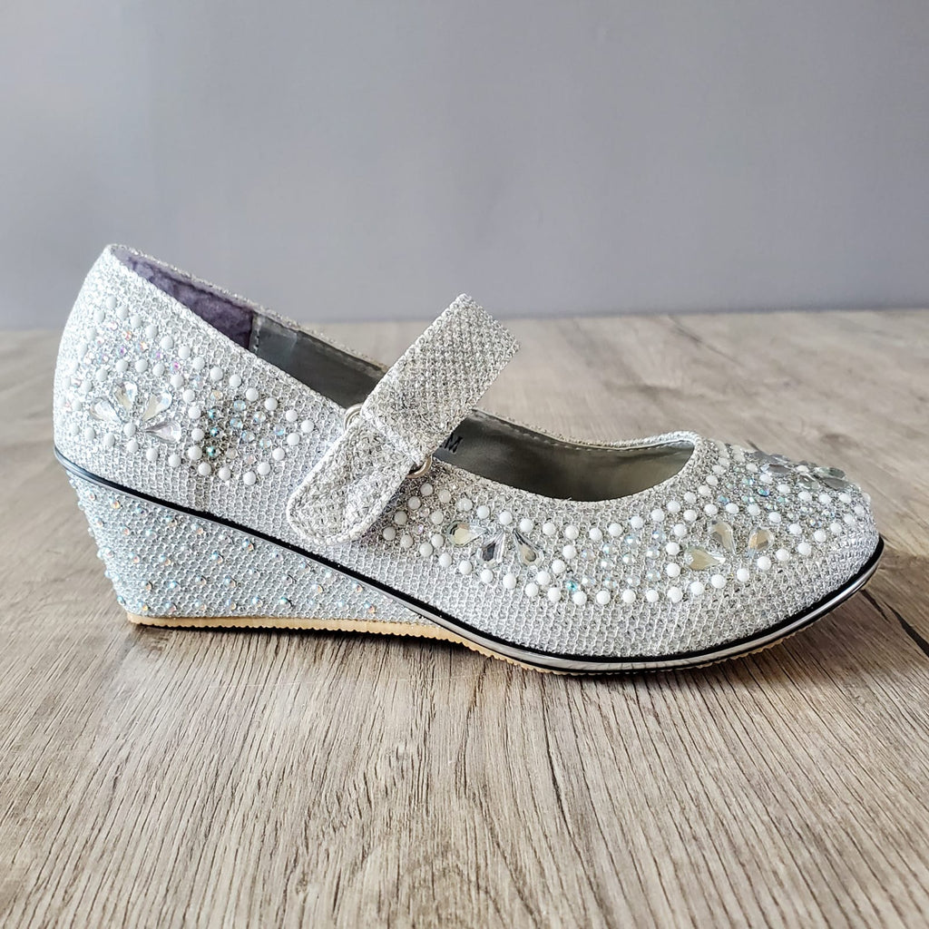 Pearl Wedge Shoes