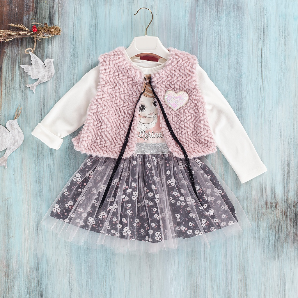 baby girls cotton tulle casual dress