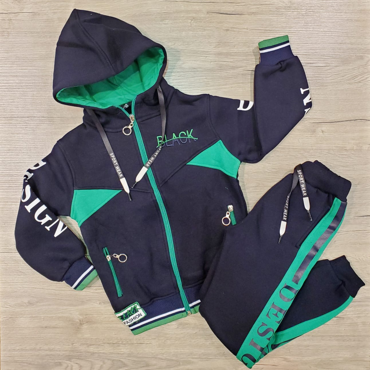boys kids cotton jogging jogger set