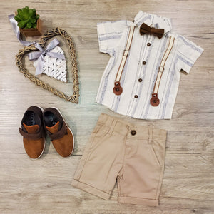 Suspender Short Set