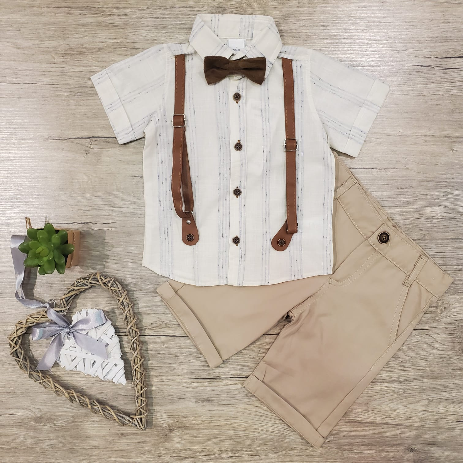 Leather Suspenders Set