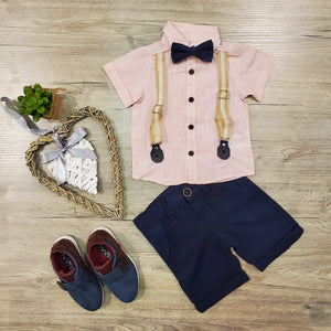Linen Suspenders Set