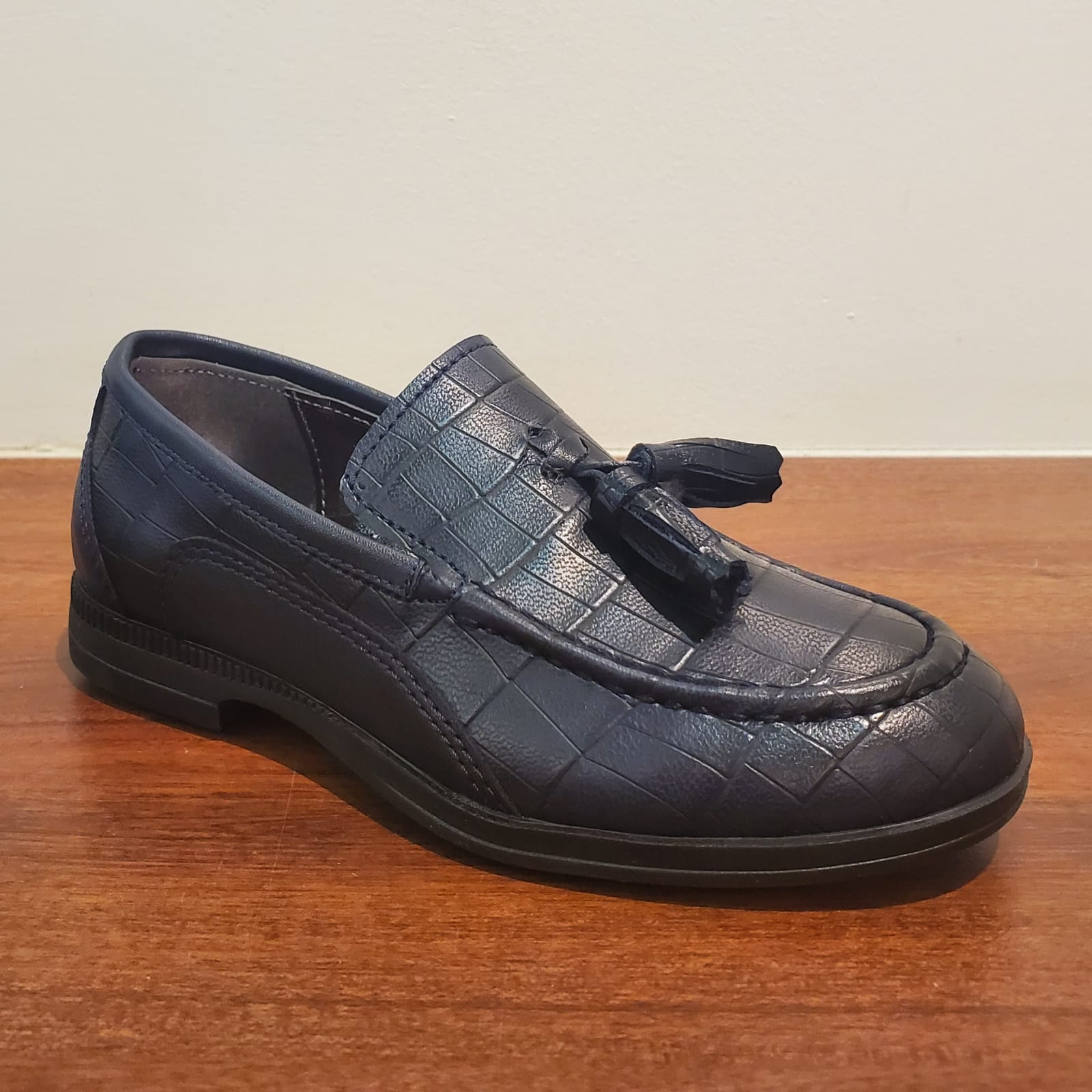 Leather Croco Loafer