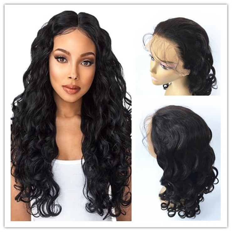 Loose Curl 360 Lace Wigs Brazilian Human Virgin Hair 150% Density | JYL HAIR