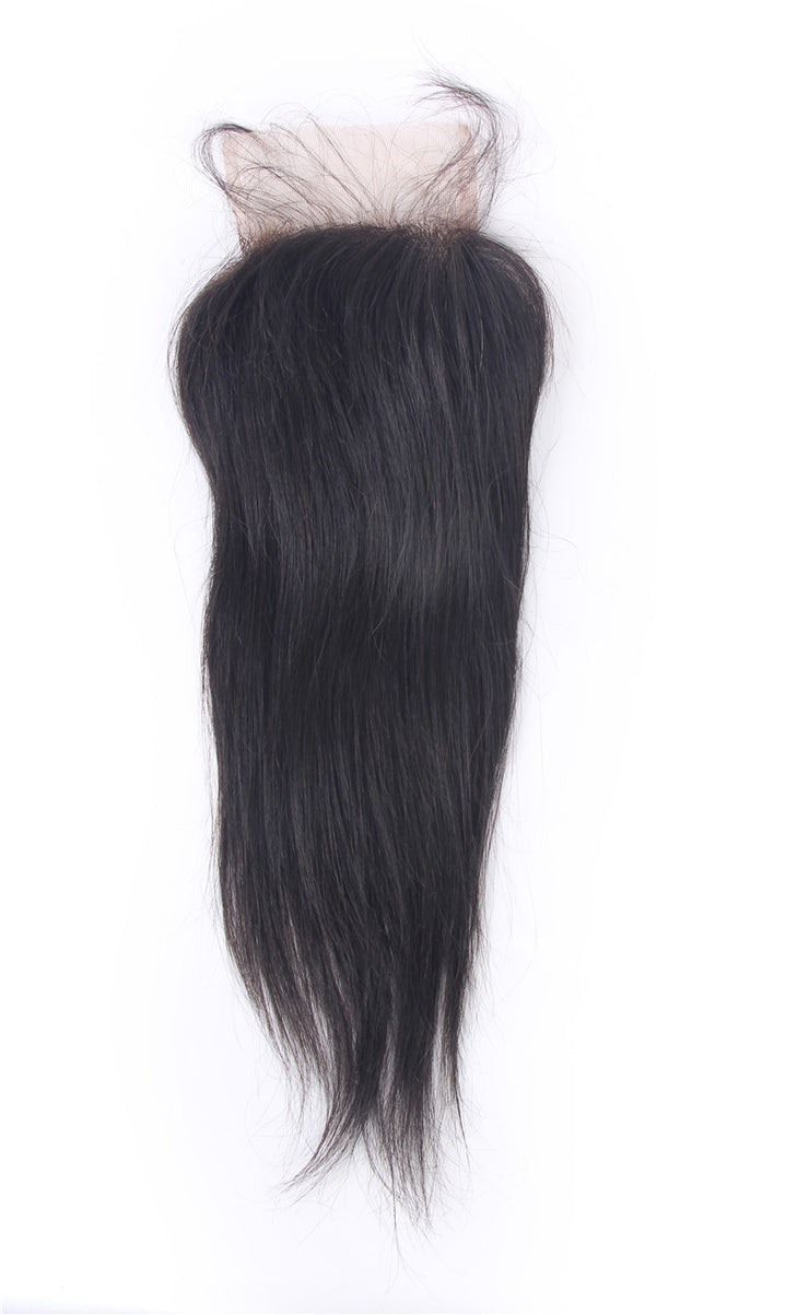 Straight 4X4 Lace Closure Brazilian Human Virgin Hair | JYL HAIR